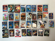 Disney Dvd Release 33 Pin Lot Mickey Dumbo Toy Story Lion King Mermaid Pooh Lilo