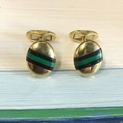 And Co.18k Yellow Gold Cufflinks W. Germany.