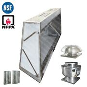 7and039 Ft Low Profile Restaurant Commercial Makeup Air Hood Captiveaire System