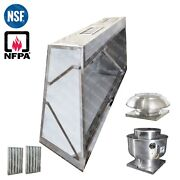 8and039 Ft Low Profile Restaurant Commercial Makeup Air Hood Captiveaire System
