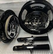Harley 2009 -19 Touring Road Glide Pulley Rotor Bright Black Wheels Outright