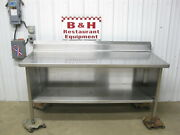 Spg 72 X 30 Stainless Steel Heavy Duty Work Table Kitchen Cabinet 6'