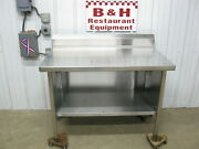 Spg 48 X 30 Stainless Steel Heavy Duty Work Table Kitchen Cabinet 4'