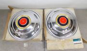 Nos Gm 1973-1978 Chevy Truck Dually Motorhome G3 Rear Hubcaps 16.5 337257