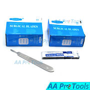 200 Surgical Scalpel Blades 15 Pack + Scalpel Handle Knife 3 Dermaplaning