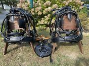 Leaders Worldwide Inc Leather Marathon Harness For Full In Black Pair