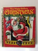 Vintage The Night Before Christmas A Little Golden Book By Clement C Moore 450-1