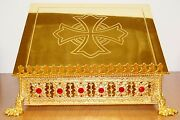 15 X 13 Adjustable Gold Plated Missal / Bible / Book Stand Sacramentary 81g