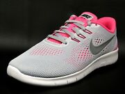 Nike Sneakers Free Rn Gs = Womenand039s Running Walking Shoes Gray Pink 833993 001