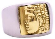 B. Kieselstein Cord 18 Kt Yellow Gold Faces Womenand039s Of The World Ring Rare