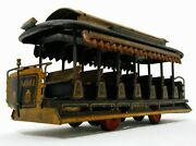 Vint Early Alps Japan Tin Lithoand039d San Francisco Trolley St Car 41 Frict Toy