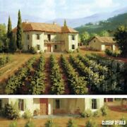 47wx35h Tuscan Vineyard By Roger Williams - Wine Grape Field Choices Of Canvas