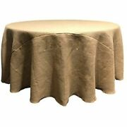 5 Round 120 Burlap Natural Refined Jute Tablecloth 100 5ft Feet Table Usa