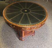 Maitland Smith Furniture Poker Game Table Wood Hand Made One Of A Kind Mahogany