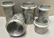 Perforated Casting Flasks 5 Pcs Set Flask Vacuum Stainless 1/8 Wall Small- Xxl