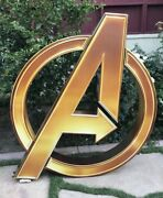 Marvel Avengers Logo Cardboard Movie Theater Display End Game 62 Inch