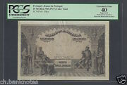 Portugal, 10000 Reis, Nd 1917 Specimen Color Trial Extremely Fine
