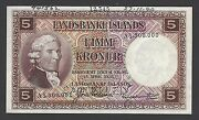 Iceland Landsbanki Islands 5 Kronur L.1928 First Issue P27bs Specimen Unc