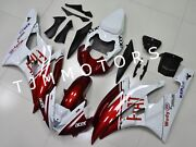 For Yzf R6 2006 2007 Abs Injection Mold Bodywork Fairing Kit Cowl Red White Fiat