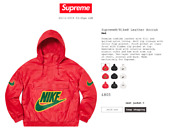Sold Out Supreme X Nike Leather Anorak Limited Edition Medium - In Hand