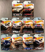 Hot Wheels 2017 Vintage American Muscle Set Of 10 Pontiac Gto Dodge Charger