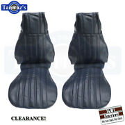 1982-1985 Camaro Front Bucket Seat Upholstery Covers Dark Blue Pui Clearance