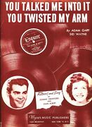 Johnny Crawford Joan Albert You Talked Me Into It You Twisted My Arm Sheet Music