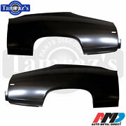 1969 Chevelle Rear Quarter Panel Skin Patch - New Amd Tooling - Pair