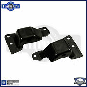 69-70 Sb 302/350 Engine Frame Mounts Gm Resto Part W/ Numbers Oem Thickness