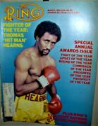 Thomas Hitman Hearns The Ring Magazine March 1985 Fighter Of The Year Very Cool