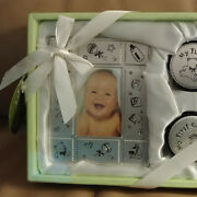 Little Beginnings Baby Metal Frame With Tooth And Curl Keepsake Boxes