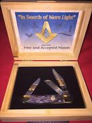 Freemason Pocket Knife Stockman Limited Edition New In Wooden Gift Box Frost