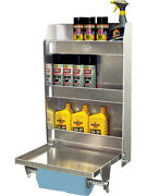 Pit-pal Products Trailer Cabinet 19-1/2 X 30 X 5-1/2 In Aluminum Natural 323