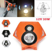 12v 35w Motorcycle Headlight Assembly Dirt Bikeled Turn Signa High / Low Beam