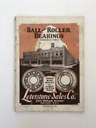 Antique Leterstone Sales Co Catalog 1931 Ball And Roller Bearings Car Parts Book