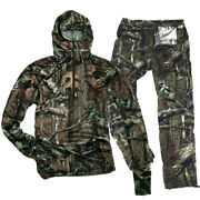 Summer Tactical Camouflage Hunting Bionic Camo Cotton Trousers Tshirt Hat Set