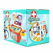 Little Doctor Kit With Carry Wheels Role Playing Doctors Nurses Kids Toys Gifts