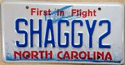 Nc Vanity Scooby Doo Shaggy License Plate Dog Hair Norville Rogers Reggae Zoinks