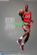 New Authentic Enterbay Michael Jordan Mj Rookie Road Away Red Jersey 1/6 Misb