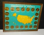1969 Franklin Mint Landmarks Of America Complete 20 Piece Coin Set Collection