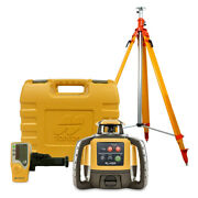 Topcon Rl-h5a Rotary Laser Level With Ls-80l Receiver Battery Elevating Tripod