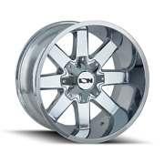 20x9 Ion 141 34 At Chrome Wheel And Tire Package 8x170 Ford Super F250 F350