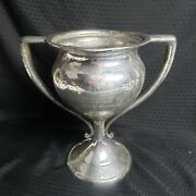 Antique Derby S.p. Co Potentate Shriner Trophy Double Handled Silver Plate