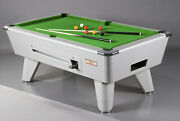 6ft/7ft Supreme Winner Coin Operated Pool Table Aluminium Finish