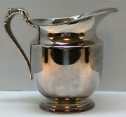 F.b.rogers Silver Co.taunton Mass Silver Plated On Copper Pitcher 1707 Used