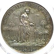 1736 Betts-169 Pcgs Ms 62 Bn Jerneganand039s Lottery Silver Medal