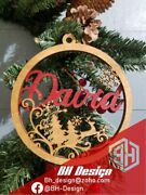 Personalized Christmas Tree Ornaments With Name Bauble , Reindeer Style.
