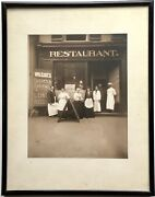 Vintage Old Cabinet Photograph Print African American Chef Wilcoxandrsquos Restaurant