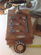 French Desk Telephone, Switchboard, Wood, Dial, Ericsson Hand Set, Old, Nice