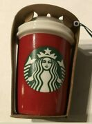 2016 Starbucks Red New York State Ceramic Cup Ornament New Fast Ship